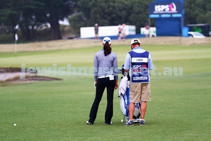 20-2-15. LPGA Handa Australian Women's Golf Open, Royal Melbourne Golf Club. Round 2. Laetitia Beck. Photo: Peter Haskin