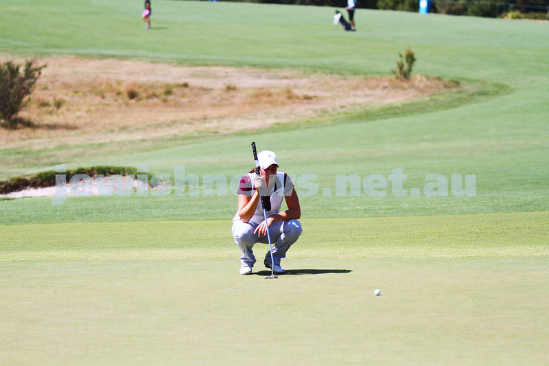 19-2-15. LPGA Handa Australian Women's Golf Open, Royal Melbourne Golf Club. Round 1. Laetitia Beck. Photo: Peter Haskin