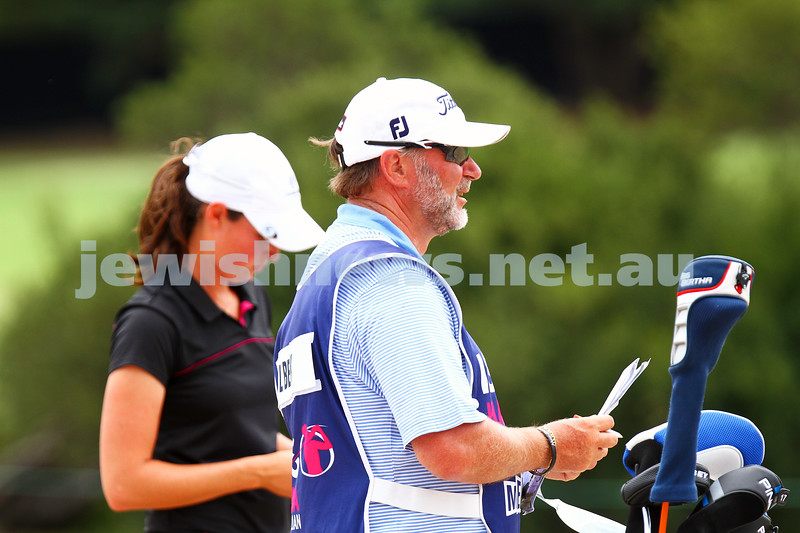 22-2-15. LPGA Handa Australian Women's Golf Open, Royal Melbourne Golf Club. Round 4. Laetitia Beck. Photo: Peter Haskin