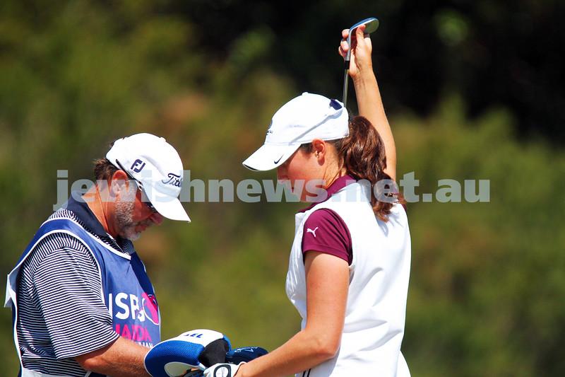 19-2-15. LPGA Handa Australian Women's Golf Open, Royal Melbourne Golf Club. Round 1. Laetitia Beck. Photo: Peter Haskin
