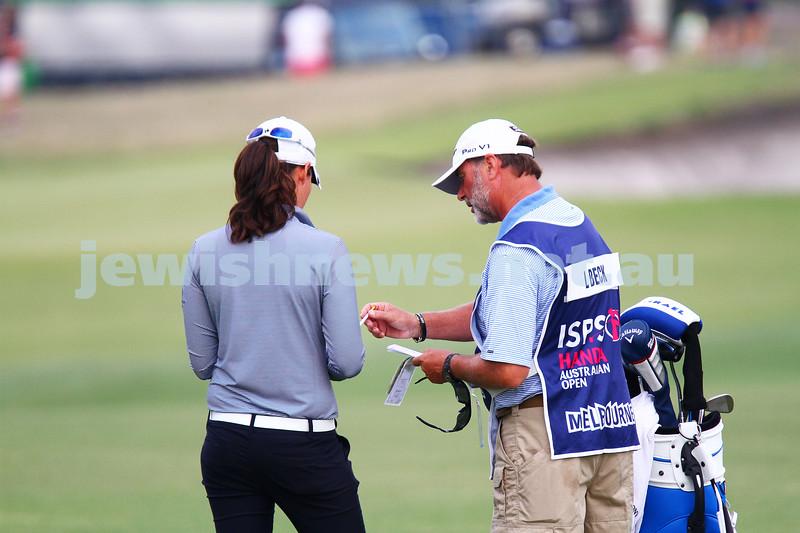 20-2-15. LPGA Handa Australian Women's Golf Open, Royal Melbourne Golf Club. Round 2. Laetitia Beck. Photo: Peter Haskin