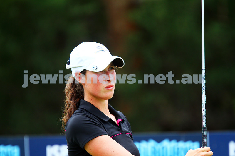 22-2-15. LPGA Handa Australian Women's Golf Open, Royal Melbourne Golf Club. Round 4. Laetitia Beck. Photo: Peter Haskin