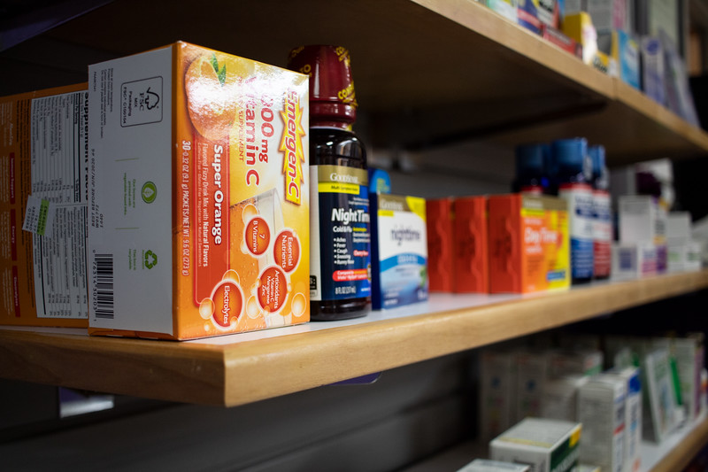 Lafene Health Center offers multiple over-the-counter medicines along with behind-the-counter prescriptions. (Katelin Woods | Collegian Media Group)