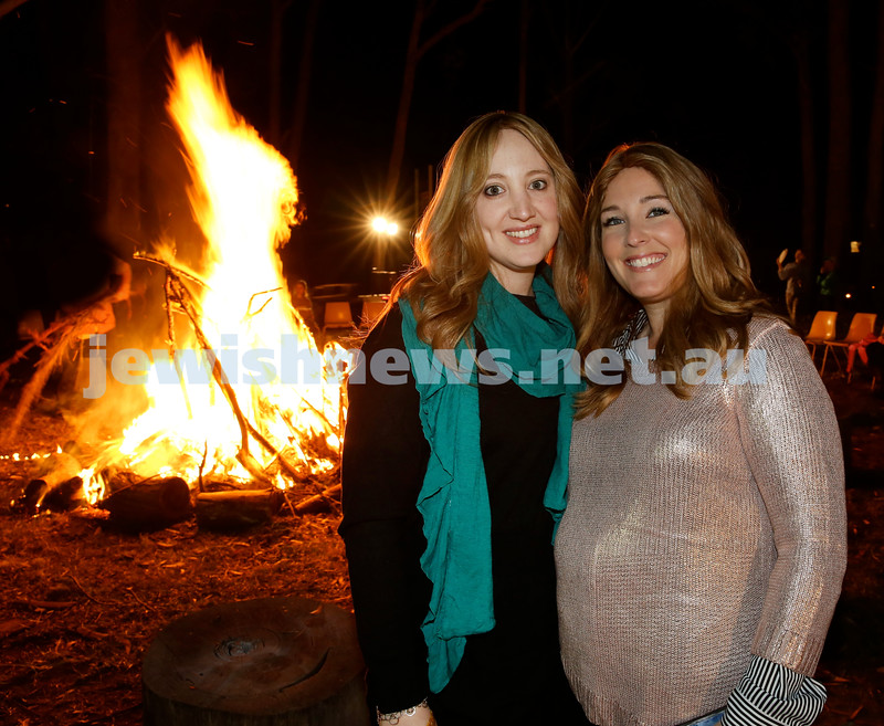Lag B'Omer at Chabad North Shore. Keren Gescheit (Left) and Galit Gershowitz. Pic Noel Kessel.