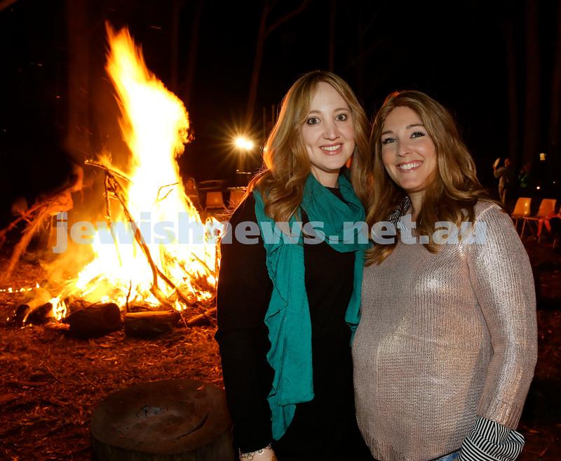 Lag B'Omer at Chabad North Shore. Keren Gescheit (Left) and Galit Gershowitz. Pic Noel Kessel.