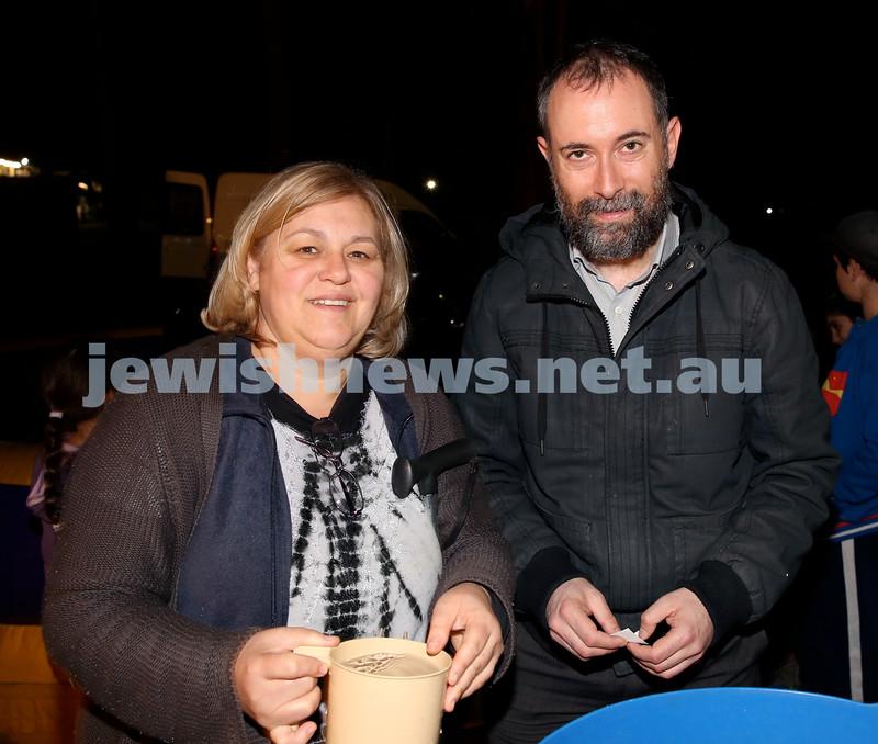 Lag B'Omer at Chabad North Shore. Ida Ganso & David Shaw. Pic Noel Kessel.