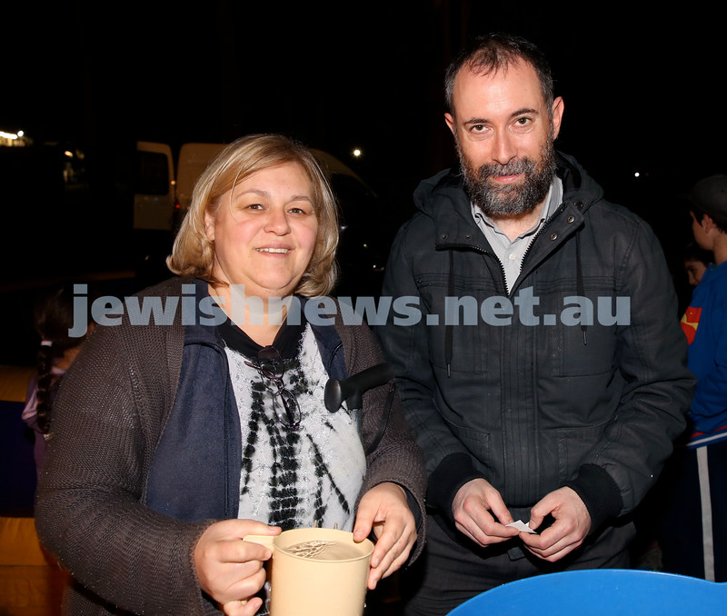 Lag B'Omer at Chabad North Shore. Ida Ganso & David Shaw. Pic Noel Kessel.