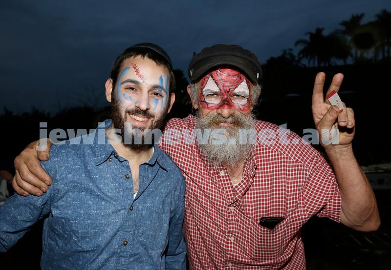 Lag B'Omer at Chabad North Shore. Levi Setton (left) & Alex Van Veen. Pic Noel Kessel