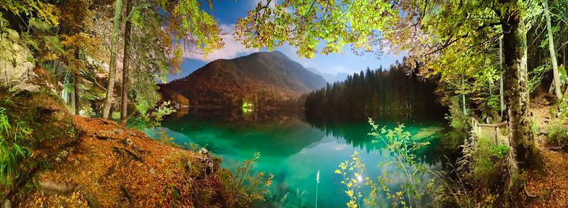 Prmo Lago di Fusine di notte - foto n° 031014-067436