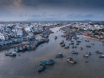 Lagi Fishing Fleet at Sunrise