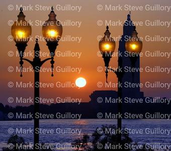 Nature - Moonset Sunrise, Port Allen, Louisiana 05182019 047