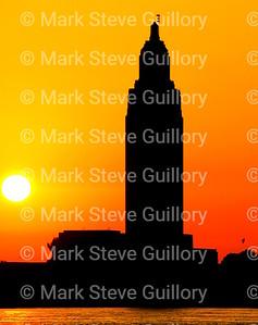Nature - Moonset Sunrise, Port Allen, Louisiana 05182019 057