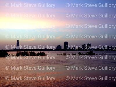 Moonset Sunrise, Port Allen, Louisiana 05182019 004