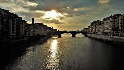 Arno Sunset from Ponte Vecchio