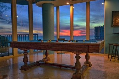 Sunsets at the Pool Table with 270 degree views