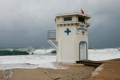 """""""Red Flag"""" Laguna Beach Life Guard Tower"""