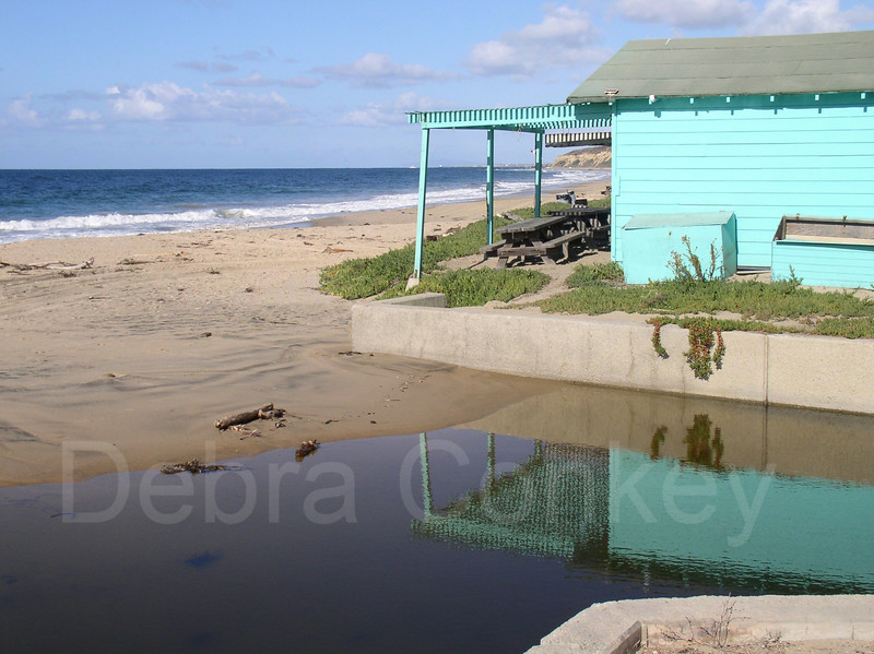 Shack & reflection, Crystal Cove, Laguna Beach, California