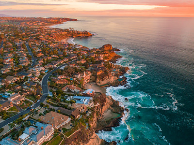 Laguna Beach Coastline Sunset