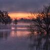 dark clouds as sun rises