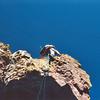Climbing out of Coxcomb's ridge notch