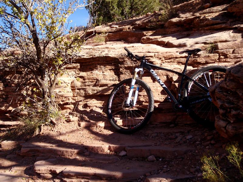 Large stone step, Horsethief Bench, Fruita, Colorado