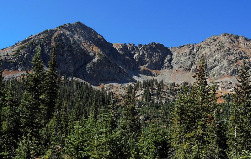 L to R: 12,676-foot Peak 3 and 12,933-foot Tenmile Peak, Colorado Trail Segment 7 (Miners Creek Trail), Tenmile Range, Colorado