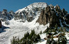 Cathedral Peak (13,943 ft, rank 62) glistens under autumn's first snow of the season, Elk Mountains, Colorado.