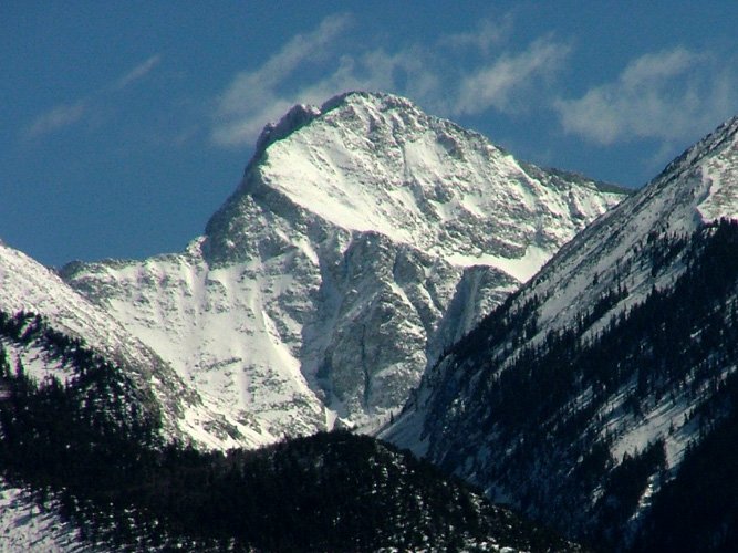 Ellingwood Point (14,042, rank 42) from the west; Sangre de Cristo Mountains, Colorado