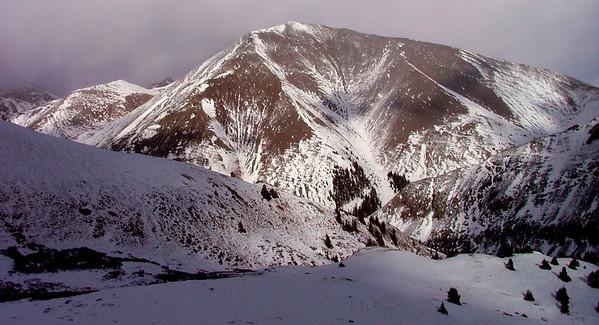 14,014 foot San Luis Peak is Colorado's 50th highest summit and one of the more remote 14ers; La Garita Wilderness, La Garita Range, San Juan Mountains, Colorado.