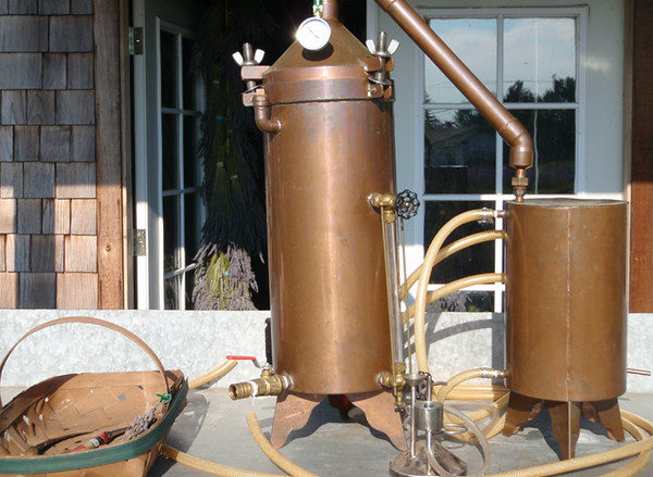 Lavender oil distilling gear at the Olympic Lavender Heritage Farm.