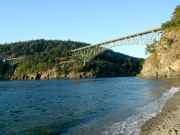 The bridges crossing  Deception Pass, Whidbey Island, WA.