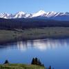 Sawatch Range towering over Taylor Park Reservoir, Colorado