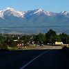 The southern Sawatch Mountains rise above Salida, Colorado.