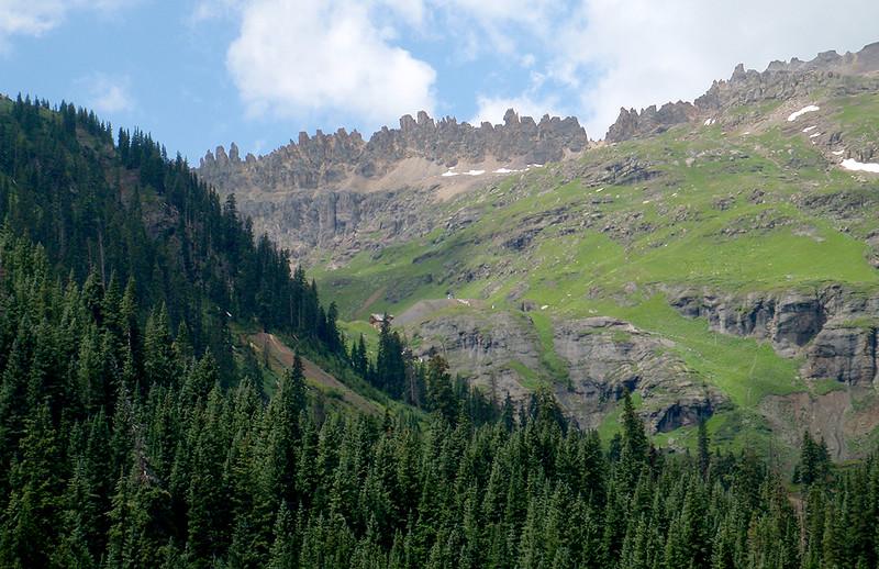 Saint Sophia Ridge, Governor Basin, from Yankee Boy Basin, San Juan Mountains, Colorado