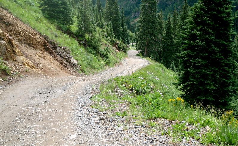 4x4 access road to Yankee Boy Basin, San Juan Mountains, Colorado