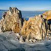 Flying over Shamanka Rock