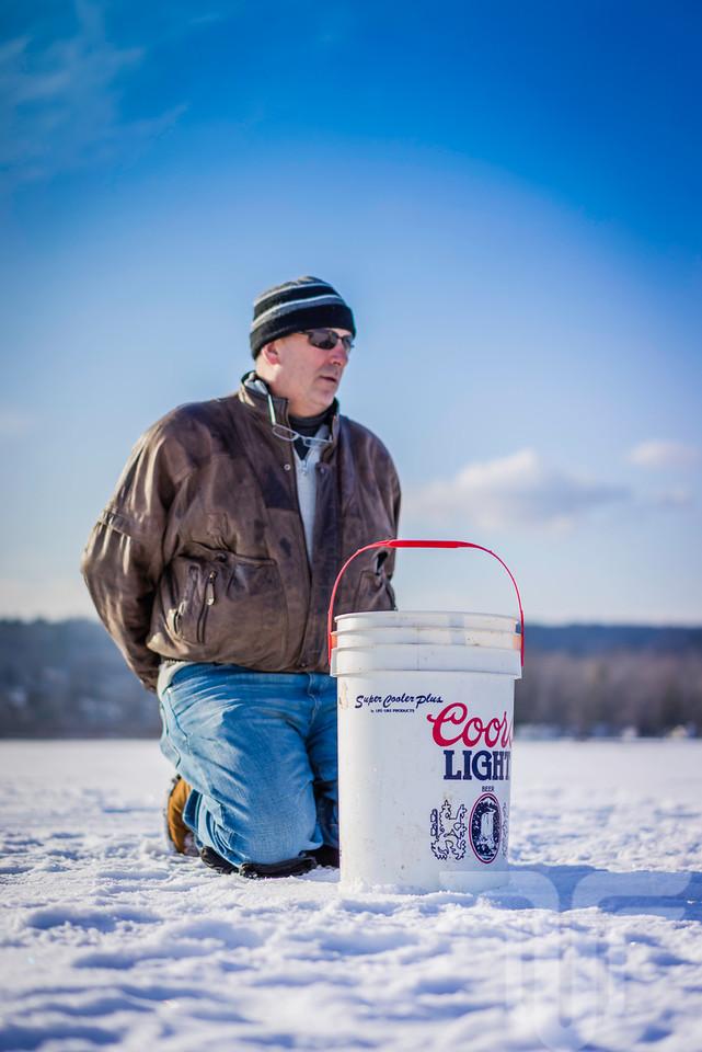 Ice Fishing   Lake Champlain   Jan 2014