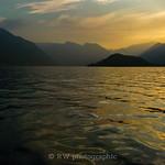 Sunset Over Lake Como