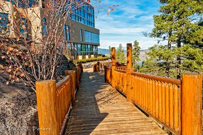 walkway around the Sparkling Hill Resorrt, Vernon, BC