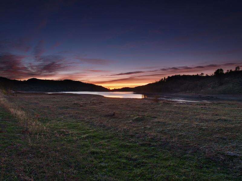 Orange & Blue - Sunrise at Detert Reservoir