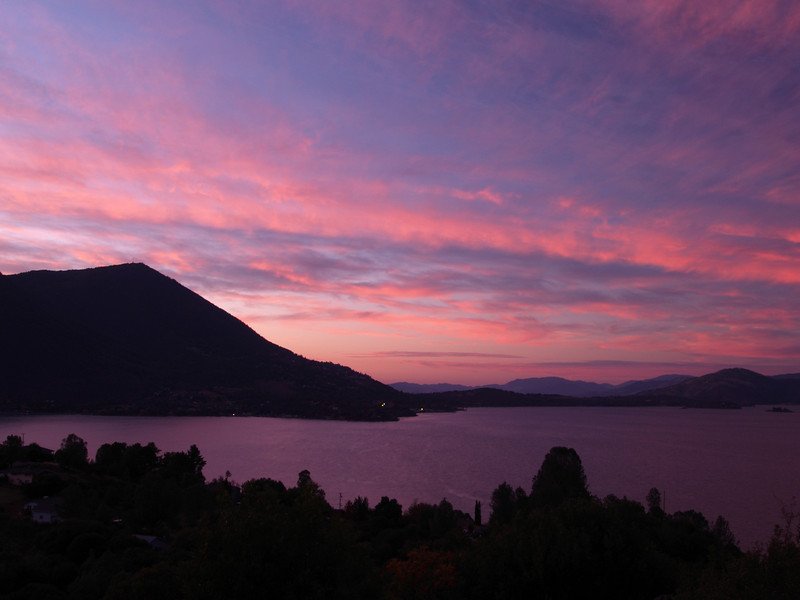 Sunset over Mt. Konocti