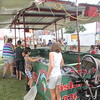 Kristi Garabrandt - The News-Herald <br /> First Bite Fish Tanks, a new attraction to the Lake County Fair, teaches kids the basics of fishing and has a steady line of kids waiting to try it at the 2017 Lake County Fair July 26.