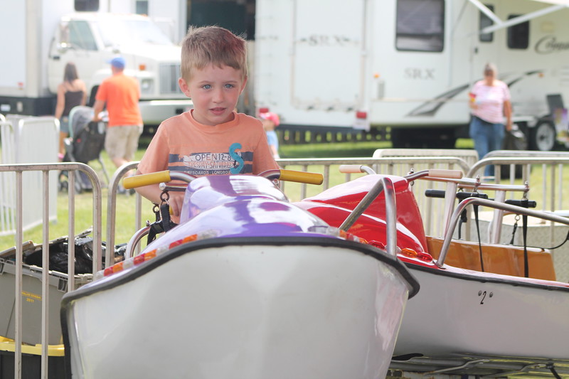 Kristi Garabrandt - The News-Herald<br /> Mason Ditto, 4, of Chesterland enjoys the rides at the fair.