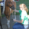 Kailee Leonard - The News-Herald <br> Hannah Powalie of Lucky Horse Shoes 4-H club baths her miniature horse, Tuesday July 25, in preparation for their upcoming horse shows throughout the week at Lake County Fair.