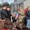 Kristi Garabrandt — The News-Herald <br> Local veterans being acknowledged at Mentor's Veterans Day program.