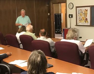 Lake County Treasurer David Stolman answered questions about property tax bills.