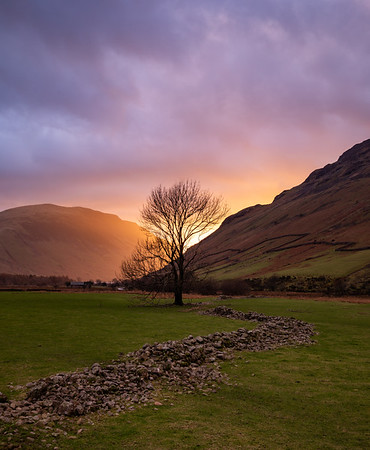Sunset In Wasdale