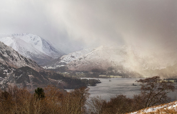 Incoming Snow Storm Over Ulswater