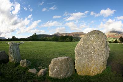 Castlerigg Stone Circle, looking at Skiddaw