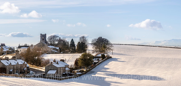 Grayrigg village  in the snow. 1st Feb 2019